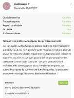 Les avis ZHAO couture (5)